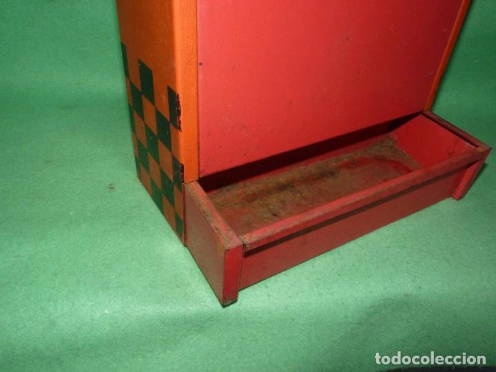 Ceniceros: Raro cenicero metal de estanco enorme cajetilla cigarrillos JEAN papelera publicidad paquete tabaco - Foto 6 - 87087616