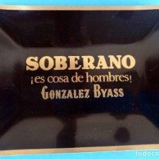 Ceniceros: CENICERO PUBLICIDAL BRANDY COÑAC SOBERANO , GONZALEZ BYASS , MUY BUEN ESTADO , ORIGINAL. Lote 90830315