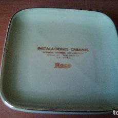 Ceniceros: CENICERO DE CERAMICA - PUBLICIDAD INSTALACIONES ROCA (DAIMIEL - CIUDAD REAL). Lote 95665423