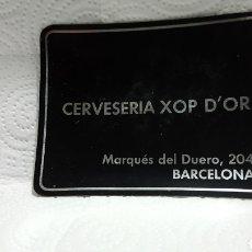 Ceniceros: CENICERO METÁLICO CERVECERÍA XOP D'OR C/ MARQUES DEL DUERO. BARCELONA. Lote 95666255