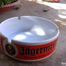 Ceniceros: ANTIGUO CENICERO TABACO CIGARROS BEBIDA ALCOHOLICA JAGERMEIFTER. Lote 97539599