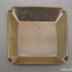 Ceniceros: ANTIGUO CENICERO CINZANO DE ALUMINIO DORADO - VERMOUTH CINZANO.. Lote 98137127