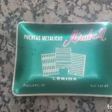 Ceniceros: CENICERO METALICO PUERTAS METALICAS MIRABALL LERIDA. Lote 98253419