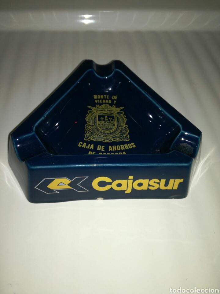 CENICERO CAJASUR FABRICADO POR SAN CLAUDIO (Coleccionismo - Objetos para Fumar - Ceniceros)