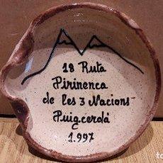 Ceniceros: CENICERO DE CERÁMICA. 18 RUTA PIRINENCA DE LES NACIONS. PUIGCERDÀ - 1997.. Lote 98578667