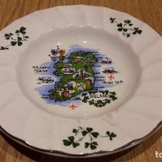 Ceniceros: CURIOSO CENICERO DE PORCELANA / IRLANDA. CARRIGDHOUN POTTERY LTD. 13 CM Ø. Lote 157142328
