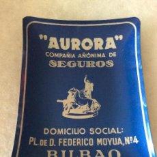 Ceniceros: AURORA SEGUROS ,CENICERO CON PUBLICIDAD BILBAO. Lote 99155223
