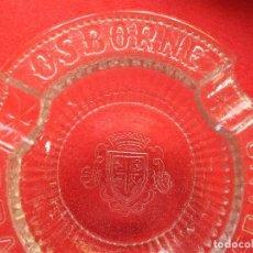 Ceniceros: OSBORNE BRANDY VETERANO CENICERO CRISTAL ANTIGUO BODEGA JEREZ. Lote 99684259