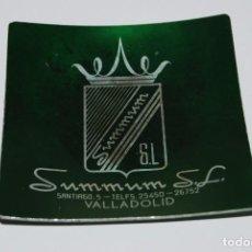 Ceniceros: CENICERO DE ALUMINIO CON PUBLICIDAD - SUMMUM S.L. - VALLADOLID - AÑOS 60. Lote 100773283