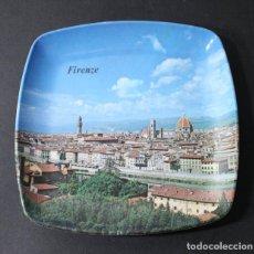 Ceniceros: CENICERO MEBEL ITALIA FIRENZE FLORENCIA 13,50 X 13,50 CM PERFECTO. Lote 101776359