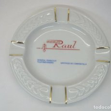 Ceniceros: CENICERO PUBLICIDAD MUEBLES RAUL PORCELANA ASHTRAY GLASS VINTAGE COLLECTABLES COLECCIONABLES. Lote 103317691
