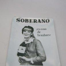 Ceniceros: CENICERO SOBERANO GONZALES BYASS METAL ALUMINIO ASHTRAY VINTAGE SPAIN COLECCIONABLES. Lote 103319071