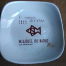 Ceniceros: EL LADRON DE CENICEROS - CENICERO PUBLICIDAD PUBLICITARIO RESTAURANTE MADRID PORCELANAS MOAHSA. Lote 104070947