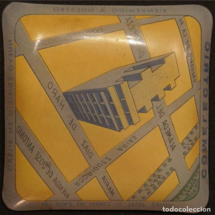Ceniceros: Cenicero - tarjetero publicitario antiguo, de cristal, del edificio Comelectric en Bilbao - Foto 5 - 106851971