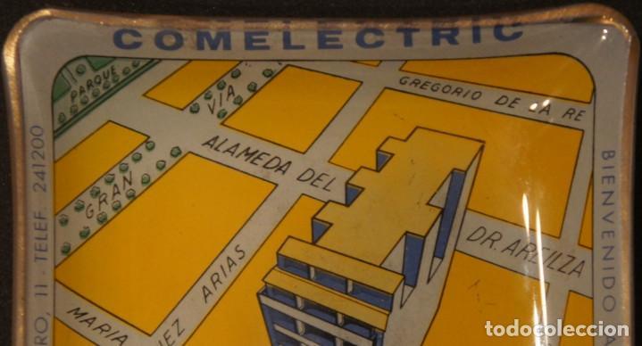 Ceniceros: Cenicero - tarjetero publicitario antiguo, de cristal, del edificio Comelectric en Bilbao - Foto 6 - 106851971