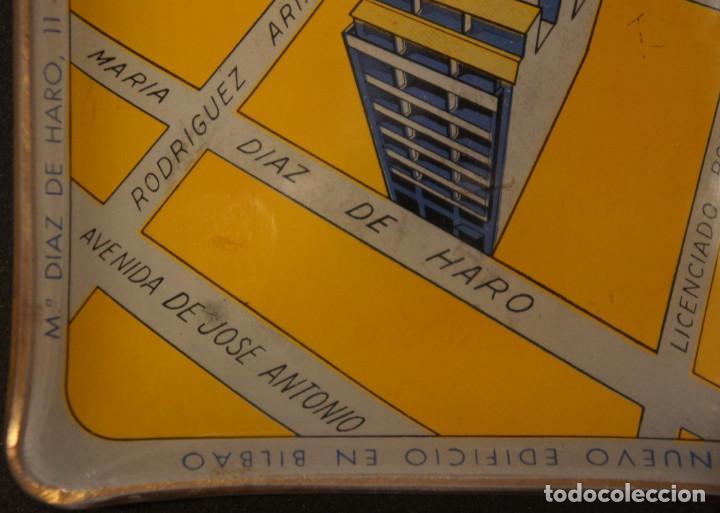 Ceniceros: Cenicero - tarjetero publicitario antiguo, de cristal, del edificio Comelectric en Bilbao - Foto 7 - 106851971