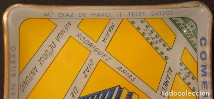 Ceniceros: Cenicero - tarjetero publicitario antiguo, de cristal, del edificio Comelectric en Bilbao - Foto 8 - 106851971