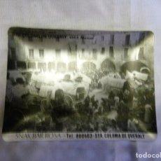 Ceniceros: CENICERO - METALICO DE SANTA COLOMA DE QUERALT - MERCAT FOTO DEL 1903 - PUBLI SNACK BAR ROSA. Lote 110240407
