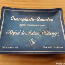 Ceniceros: CENICERO ALUMINIO RAFAEL MEDINA VILALLONGA, CUEROTEX. MEDIADOS S. XX. Lote 148097461