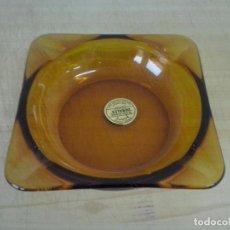 Ceniceros: CENICERO DURALEX AMBAR ORIGINAL AÑOS 60. Lote 114378339
