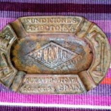 Ceniceros: CENICERO FUNDICIONES AMBOTO S.A. DURANGO 18X12 CMS 580 GRS. METAL. Lote 114863467