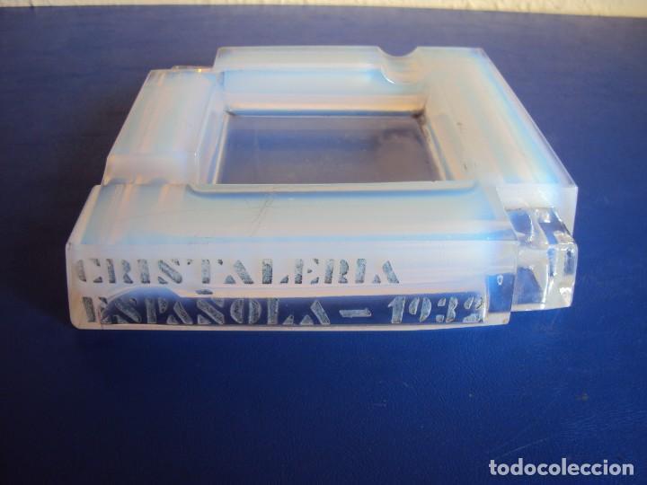 (PUB-180315)CENICERO DE CRISTAL - CRISTALERIA ESPAÑOLA 1932 (Coleccionismo - Objetos para Fumar - Ceniceros)