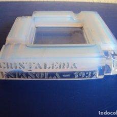 Ceniceros: (PUB-180315)CENICERO DE CRISTAL - CRISTALERIA ESPAÑOLA 1932. Lote 115654519