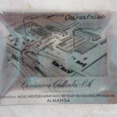 Ceniceros: CENICERO CERAMICA COLLADO - ALMANSA (ALBACETE) - 12X9CM - ALUMINIO. Lote 116596735