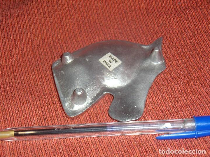 Ceniceros: Cenicero caballo, metal plateado, años 80, Nuevo. - Foto 2 - 122174919