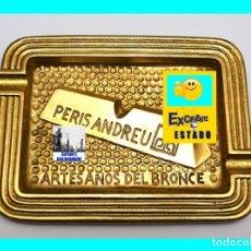 Ceniceros: PERIS ANDREU - VALENCIA - ARTESANOS DEL BRONCE - CENICERO ORIGINAL AÑOS 70 - MUY RARO - EXCELENTE. Lote 124154711