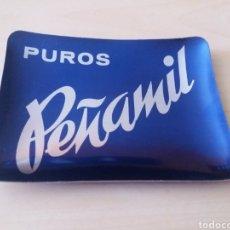 Ceniceros: ANTIGUO CENICERO DE ALUMINIO PUROS PEÑAMIL. Lote 242011385