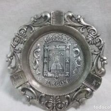 Ceniceros: CENICERO METÁLICO CON EL ESCUDO DE BURGOS . Lote 128561935