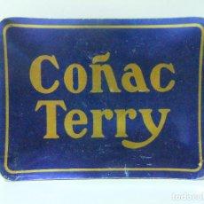 Ceniceros: CENICERO COÑAC TERRY - BRANDY COGNAC LICOR PUBLICIDAD METAL. Lote 129088827