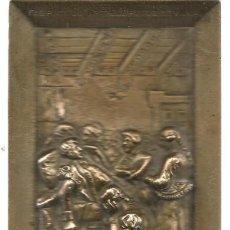 Ceniceros: PLACA DE ¿BRONCE? FÁBRICA DE ARTILLERIA DE SEVILLA. REPRESENTACIÓN MUERTE DE DAOIZ. RELIEVE (Z/35). Lote 129228535