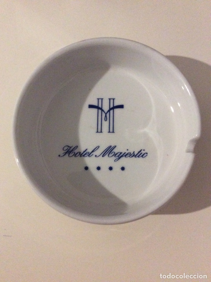 HOTEL MAJESTIC CENICERO CERAMICA INDUSTRIAL MONTGATINA MONTGAT BARCELONA (Coleccionismo - Objetos para Fumar - Ceniceros)