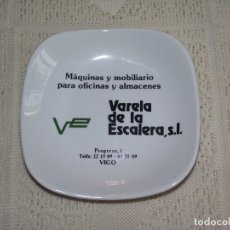 Ceniceros: CENICERO PUBLICITARIO VARELA DE LA ESCALERA. VIGO - PORCELANA MOHASA. (ALVAREZ. SANTA CLARA). Lote 130287394