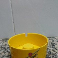 Ceniceros: CENICERO DE PLÁSTICO CON PUBLICIDAD DE SCHWEPPES -ADORNOS S.A.. Lote 130322570