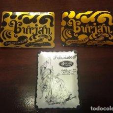 Ceniceros: LOTE DE ANTIGUOS CENICEROS - PUBLICIDAD BURJAN - MIDEN 9.2×6.8 CM.. Lote 131375358