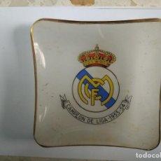 Ceniceros: CENICERO REAL MADRID OPALINA CAMPEON DE LIGA 1953-54 UNICO. Lote 132647370
