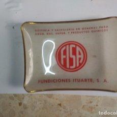 Ceniceros: ANTIGUO CENICERO FUNDICIONES URTIARTE CRISTAL. Lote 132653642
