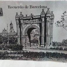 Ceniceros: CENICERO METÁLICO RECUERDO SOUVENIR DE BARCELONA AÑOS 80. Lote 132814394