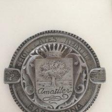 Ceniceros: CENICERO CHOCOLATES AMATLLER DE ALUMINIO. Lote 132817842
