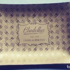 Ceniceros: CENICERO ALUMINIO ANODIZADO DORADO CALDES DE MONTBUY CLADELLAS . Lote 133774306