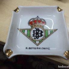 Ceniceros: CENICERO DEL REAL BETIS BALOMPIÉ.AÑOS 70.CERÁMICA.. Lote 134041614