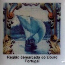 Ceniceros: 4 CENICEROS EN PORCELANA BLANCA, CON MOTIVOS DEL DUERO (PORTUGAL). Lote 134806534