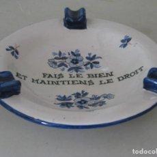 Ceniceros: CENICERO CERÁMICA, EN FRANCÉS. Lote 135108598