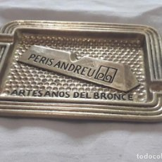 Ceniceros: CENICERO PERIS ANDREU AÑOS 70 ARTESANOS DEL BRONCE . Lote 135503990