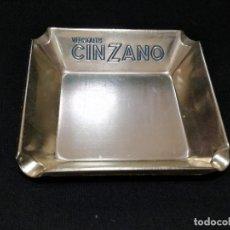 Ceniceros: ANTIGUO CENICERO DE ALUMINIO - PUBLICIDAD VERMOUTH CINZANO. Lote 136079618