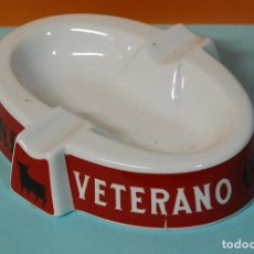Ceniceros: CENICERO PUBLICITARIO BRANDY VETERANO-OSBORNE. Lote 138640634