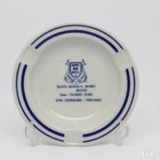 Ceniceros: CENICERO PORCELANA HOTEL SUAVE MAR ASHTRAY PORTUGAL VINTAGE COLECCION. Lote 139673030